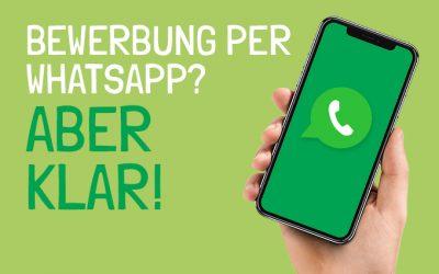 Bewerbung per Whatsapp? Aber klar!