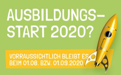 Ausbildungsstart 2020?